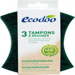 Lot de 3 tampons à récurer écologiques - Ecodoo