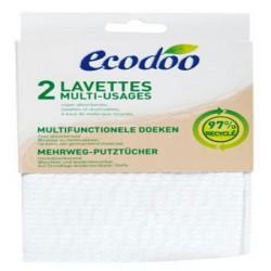 Lot de 2 lavettes écologiques multi usages - Ecodoo