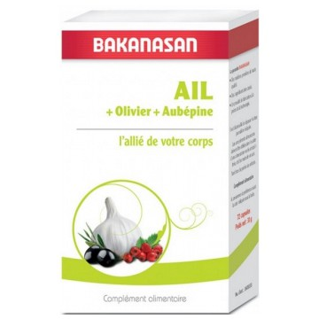Ail + Olivier + Aubépine 72 capsules Bakanasan