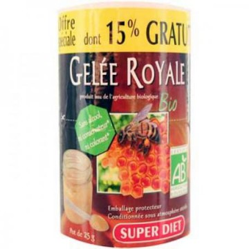 Gelée Royale pot de 25g dont 15% gratuit Super Diet
