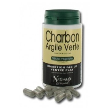 Charbon Argile Verte Digestion facile Ventre Plat - Naturado