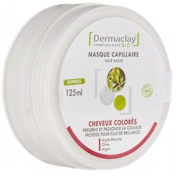 Masque capillaire cheveux colorés, décolorés et mêchés - Dermaclay