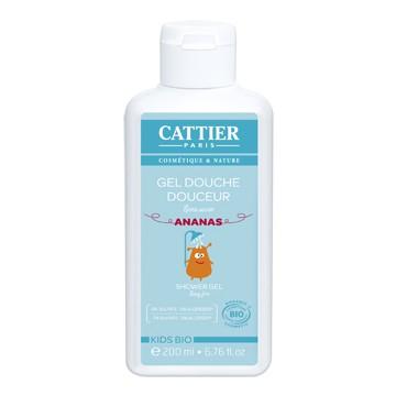 Gel douche douceur enfants sans savon à l'Ananas 200ml Cattier