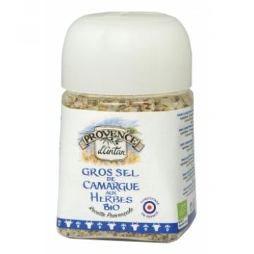Gros Sel de camargue aux Herbes bio Boîte Métal 125 gr - Provence d'Antan