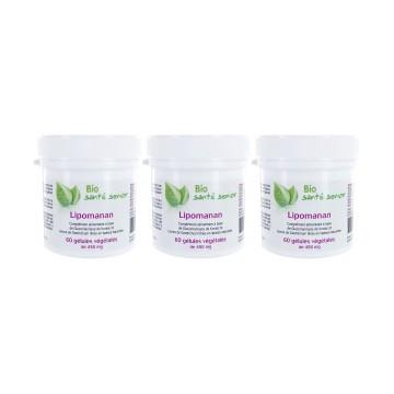 Lipomanan 3 boites de 60 gélules végétales Lipases spécifiques Konjac