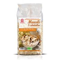 Muesi bio 5 céréales 500 grammes Celnat