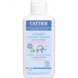 Liniment bio Lait crème pour le change 200ml - Cattier