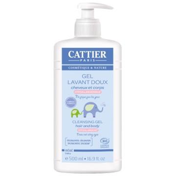 Gel lavant doux Cheveux et corps 500ml - Cattier