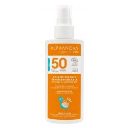 Spray solaire enfants très haute protection SPF 50 Kids 125g - Alphanova