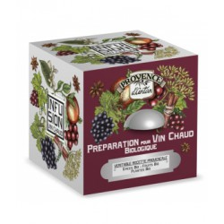 Préparation pour vin chaud bio cube 24 sachets Boite métal  - Provence d'Antan