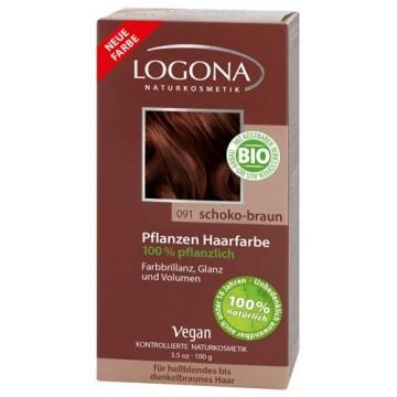 Soin colorant végétal poudre Chocolat 100 g - Logona