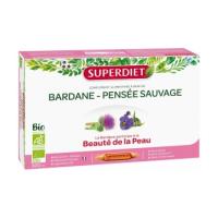 Bardane Pensée Sauvage Bio 20 ampoules 15ml - Super Diet
