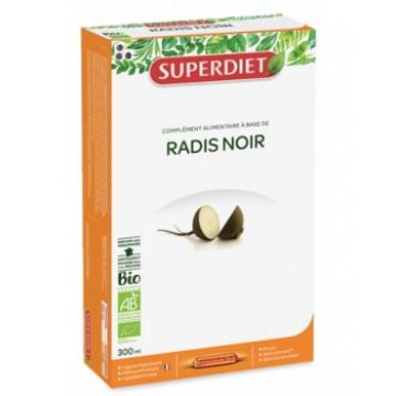 Radis Noir pur jus bio 20 ampoules de 15ml  - Super Diet