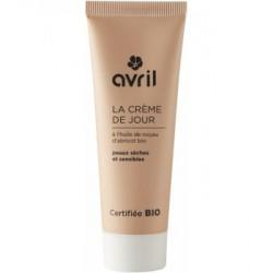 Crème de jour peau sèche et sensible Huile de Noyau d'Abricot 50ml Avril beauté
