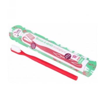 Brosse à dents écologique rechargeable rouge framboise Medium - Lamazuna
