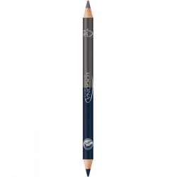Crayon à paupières bois duo n°4 Steel Grey 1.38g - Logona