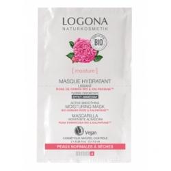 Masque hydratant lissant Rose de Damas bio Kalpariane 2x7,5 ml - Logona