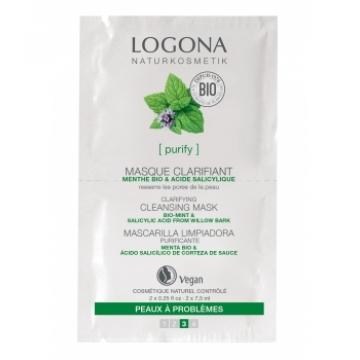 Masque nettoyant et clarifiant Menthe bio Acide salicylique 2 x 7,5 ml - Logona