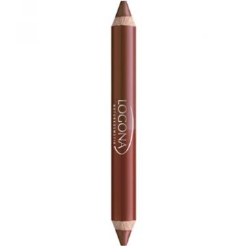 Rouge à lèvres duo crayon n°2 chesnut 2.98g - Logona