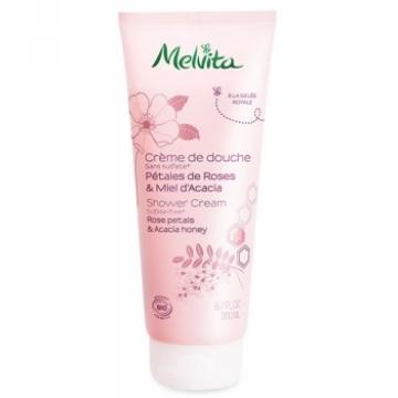 Crème de douche pétales de roses  miel d'acacia 200ml - Melvita