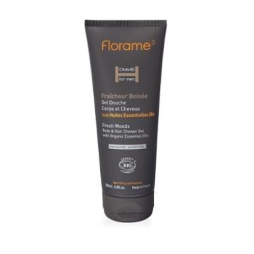 Shampooing douche Fraîcheur boisée 200ml - Florame