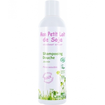 Gel douche corps cheveux Peau sensible Jasmin 250ml - Mon Petit Lait De Soja