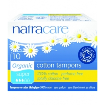 10 Tampons super sans applicateur en coton bio - Natracare