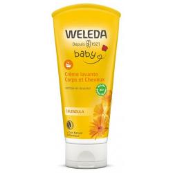 Crème lavante corps et cheveux au Calendula bébé 200ml - Weleda