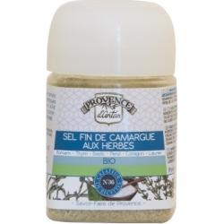 Sel fin de Camargue aux Herbes pot végétal bio 90 gr - Provence d'Antan