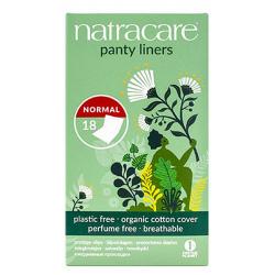 18 protège slips aux formes arrondies pliées emballés - Natracare