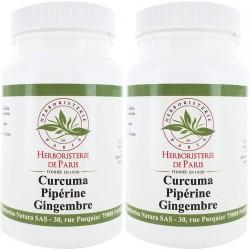 Curcuma Pipérine Gingembre 180 gélules (2x90 gélules) - Herboristerie de paris