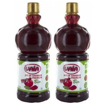 Jus de Grenade bio Premium 100% pur jus 2 litres Promo - VAIA
