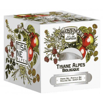 Tisane Be Cube des Alpes bio 24 sachets 60 gr recharge carton - Provence d'Antan