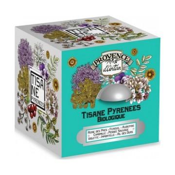 Tisane Be Cube des Pyrénées bio 24 sachets 48g boite métal - Provence d'Antan