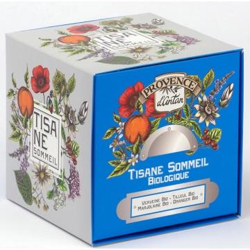 Tisane Be cube Sommeil bio 24 sachets 36 gr recharge carton - Provence d'Antan