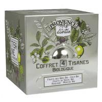 Tisane be cube 4 tisanes bio differentes 24 sachets boite métal - Provence d'Antan