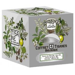 Tisane be cube 4 saveurs bio 24 sachets recharge carton - Provence d'Antan