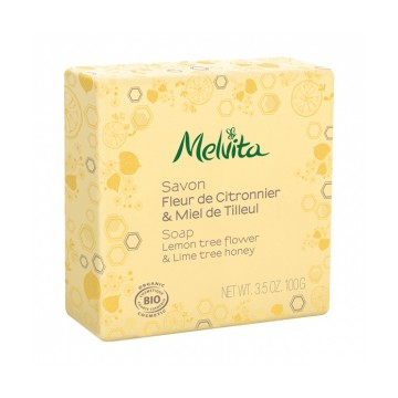Savon Fleur de citronnier et miel de tilleul 100 gr - Melvita