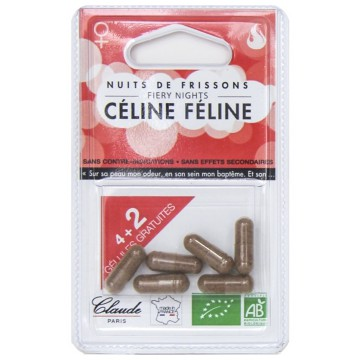 Céline Féline Desir et Libido 100% Bio 6 gélules Claude Claude