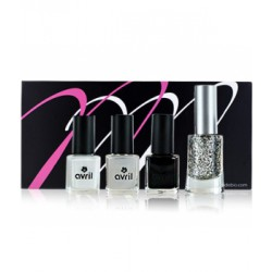 Coffret MondeBio Box vernis Black and White Le Monde du Bio