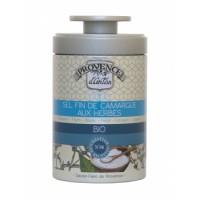 Sel fin de Camargue aux Herbes bio Boîte métal 90 gr - Provence d'Antan