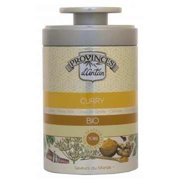 Curry doux bio boîte métal 40g - Provence d'Antan