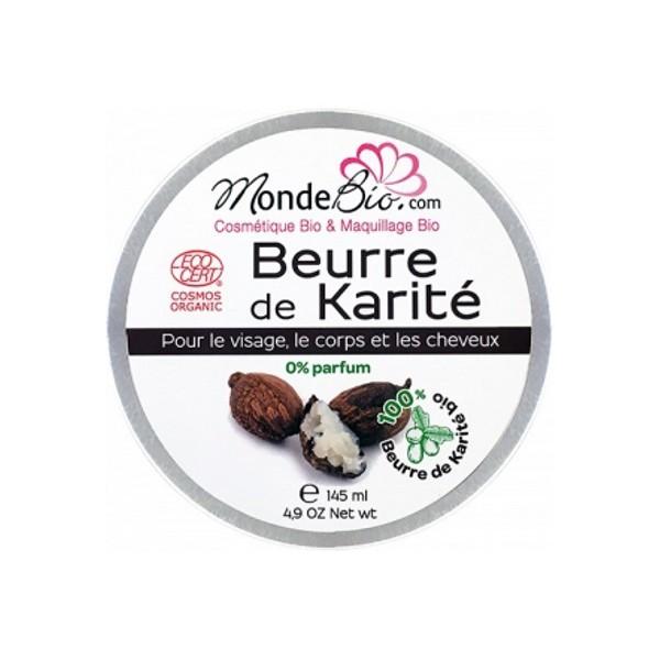 beurre de karit bio 150 gr marque monde bio beurre v g tal de karit brut bio aromatic provence. Black Bedroom Furniture Sets. Home Design Ideas
