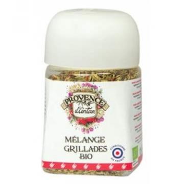 Mélange pour Grillades bio pot végétal biodégradable 30 gr - Provence d'Antan