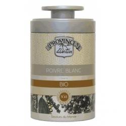 Poivre blanc bio boîte métal 50 gr - Provence d'Antan
