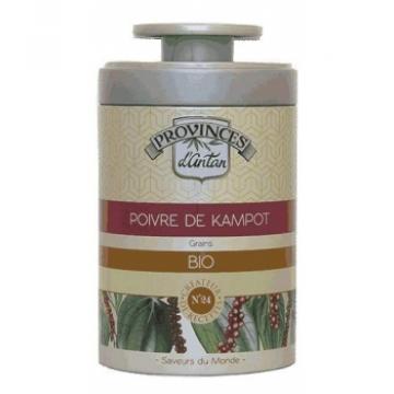 Poivre de kampot bio boîte métal 40 gr - Provence d'Antan