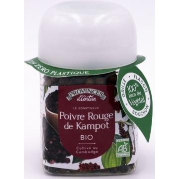 Poivre de kampot bio pot végétal biodégradable 40 gr - Provence d'Antan