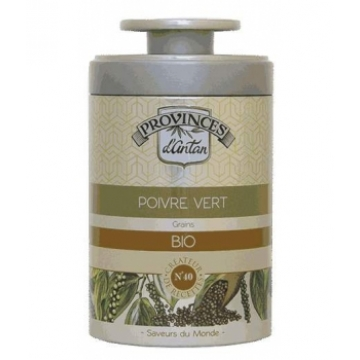 Poivre vert bio boîte métal 50 gr - Provence D'Antan