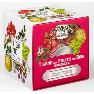Tisane Be Cube Fruits des bois bio 24 sachets recharge carton - Provence d'Antan