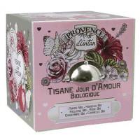 Tisane Be Cube Jour D'amour bio 24 sachets avec boite métal - Provence d'Antan - Provence d'Antan